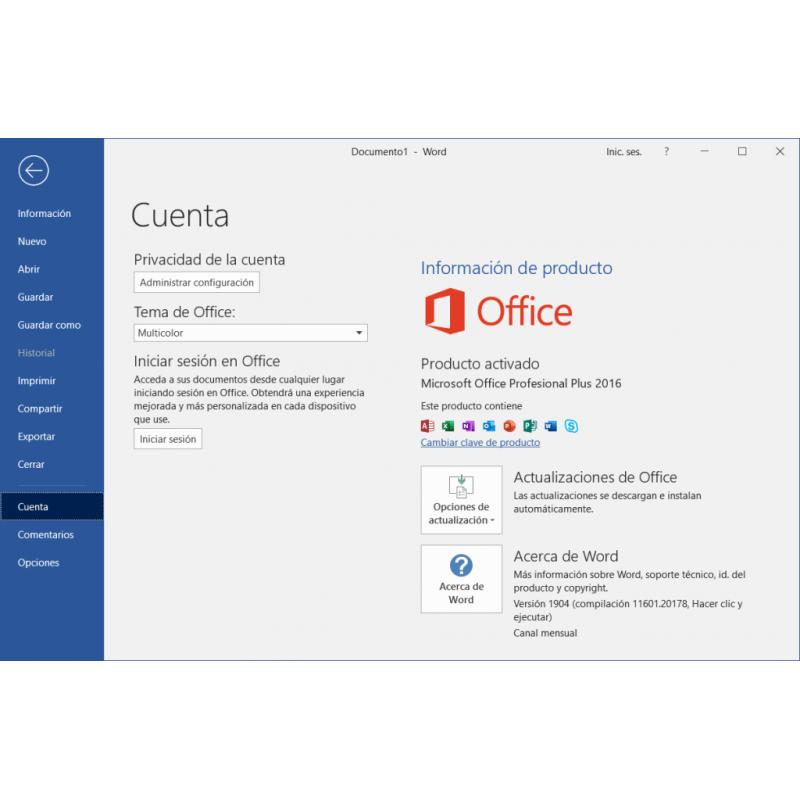 vLicencia Digital Office 2019 Pro
